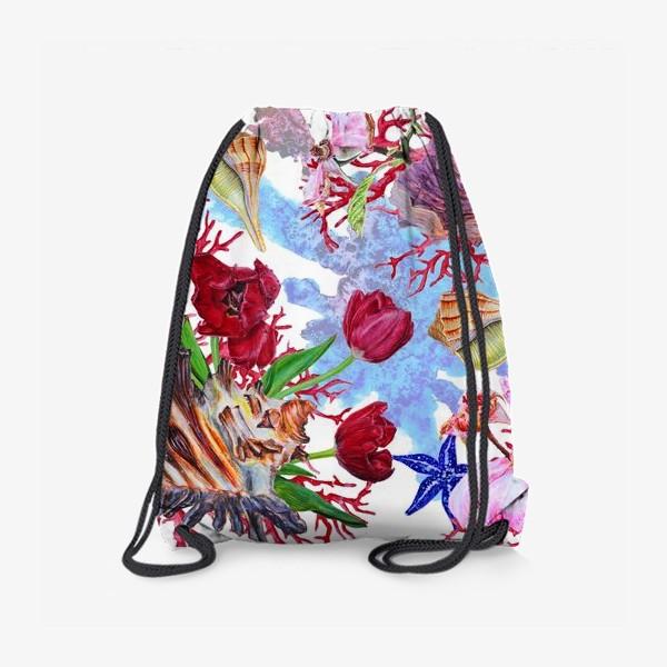 Рюкзак «Кораллы, ракушки и цветы»