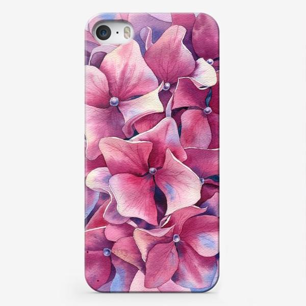 Чехол iPhone « Розовая гортензия  »