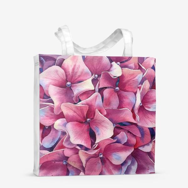 Сумка-шоппер « Розовая гортензия  »