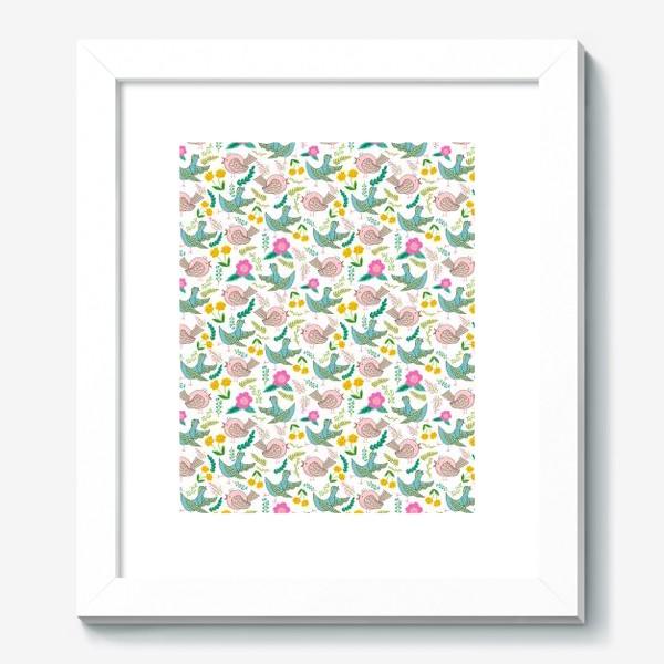 Картина «Птицы и цветы»