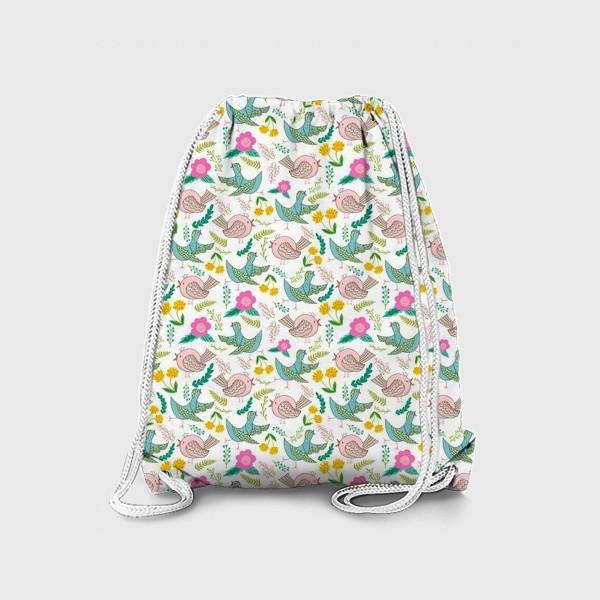 Рюкзак «Птицы и цветы»