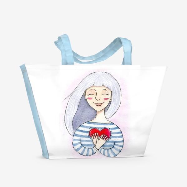Пляжная сумка «Счастье внутри»