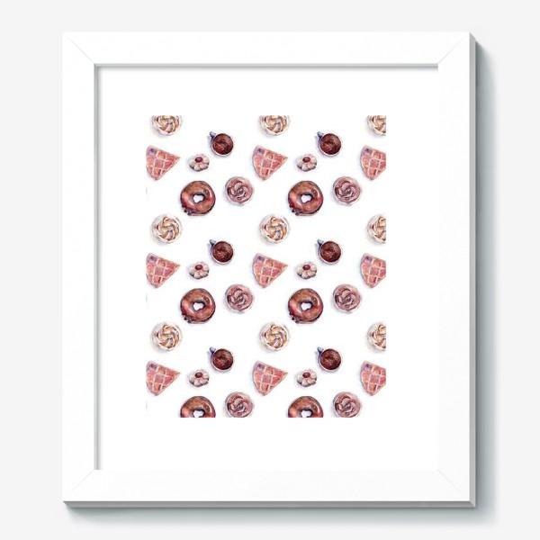 Картина «Десерты, коричневая гамма»
