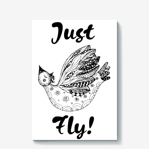 Холст «Just fly!»