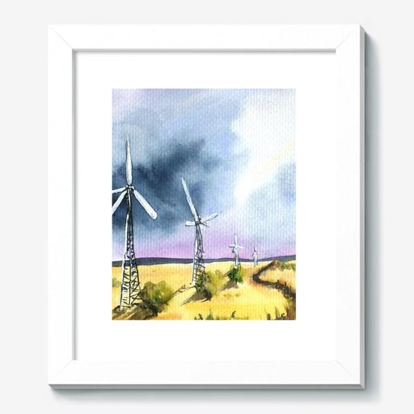 Картина «Пейзаж с ветряными мельницами»
