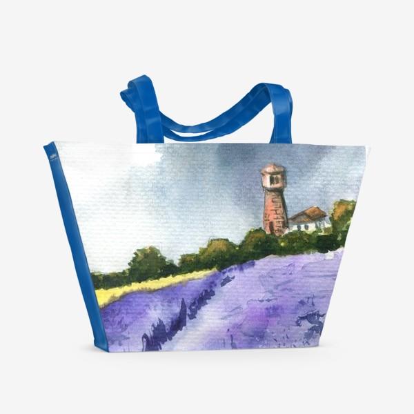 Пляжная сумка «Поле лаванды»