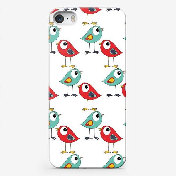 Чехол iPhone «Паттерн птицы»