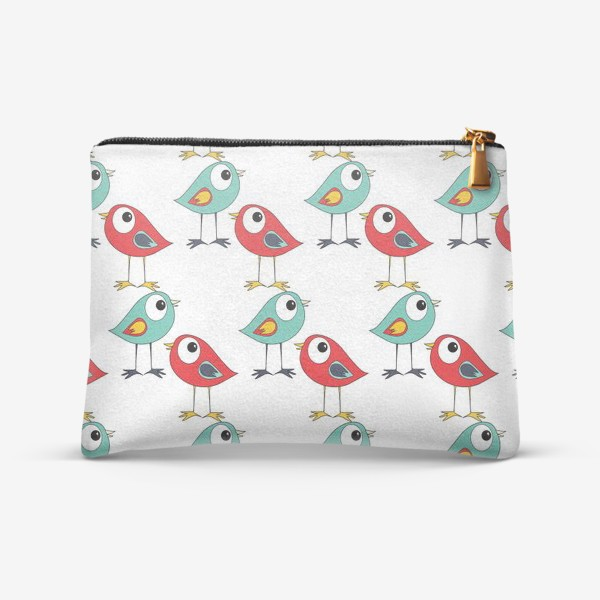 Косметичка «Паттерн птицы»