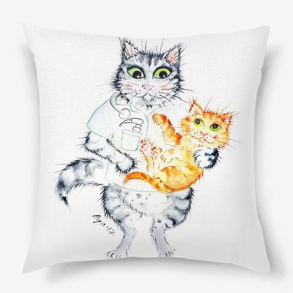 Подушка «Котики лечат. Врач Неонатолог»