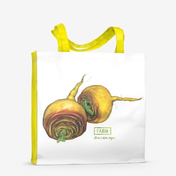 Сумка-шоппер «Репа: ботаническая акварель и леттеринг»