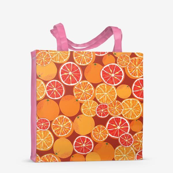 Сумка-шоппер «Апельсины на красном»