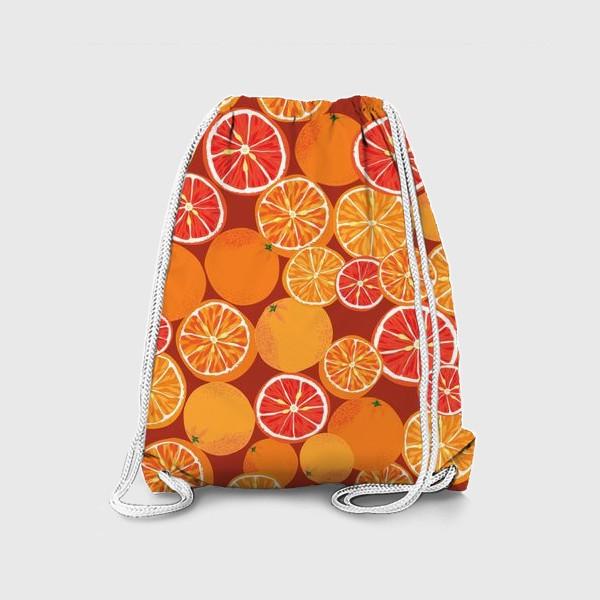 Рюкзак «Апельсины на красном»