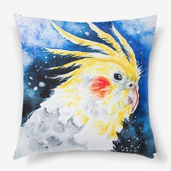 Подушка «Попугай Корелла-нимфа»