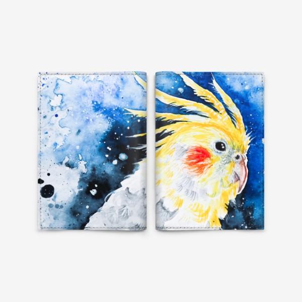 Обложка для паспорта «Попугай Корелла-нимфа»