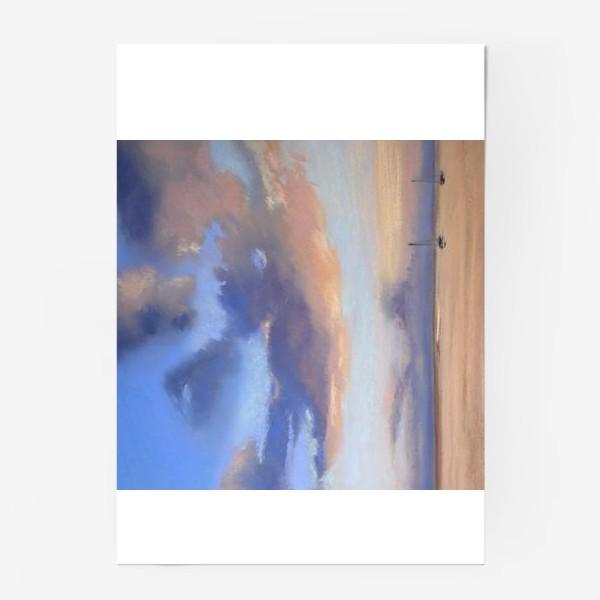 Постер «облака и море»