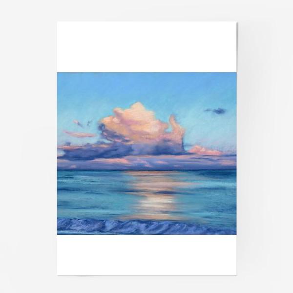 Постер «море и облака»