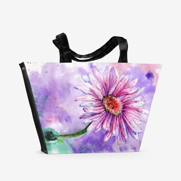 Пляжная сумка «Натюрморт с гербером»