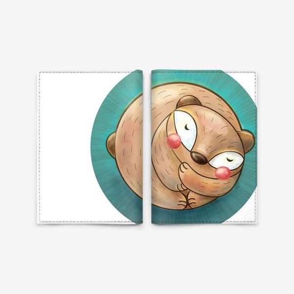Обложка для паспорта «Спящий мишка»