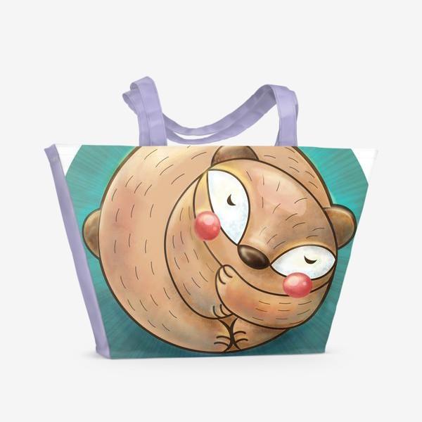 Пляжная сумка «Спящий мишка»