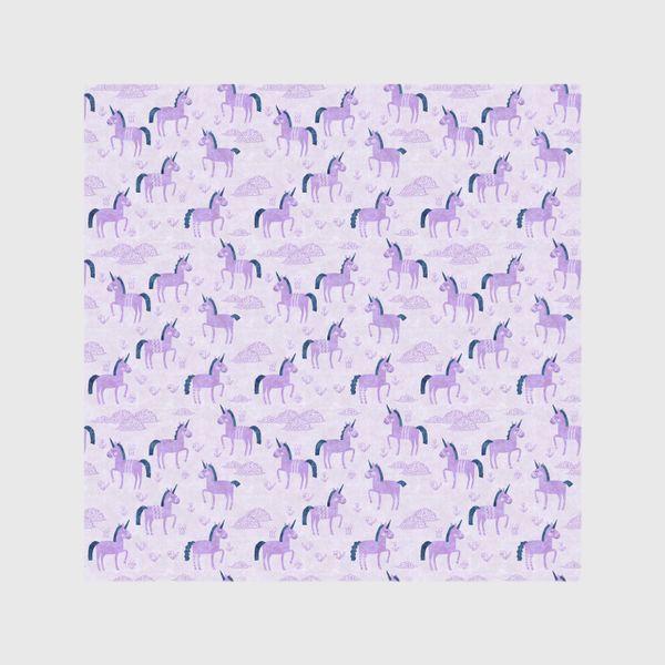 Шторы «Единороги в лиловых облачках»