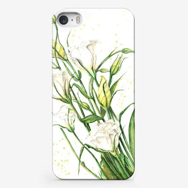 Чехол iPhone «Цветы эустомы (лизиантуса)»