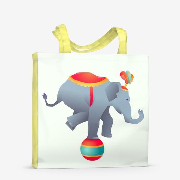 Сумка-шоппер «Цирковой слон на шаре»