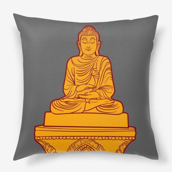 Подушка «Золотая статуя Будды»