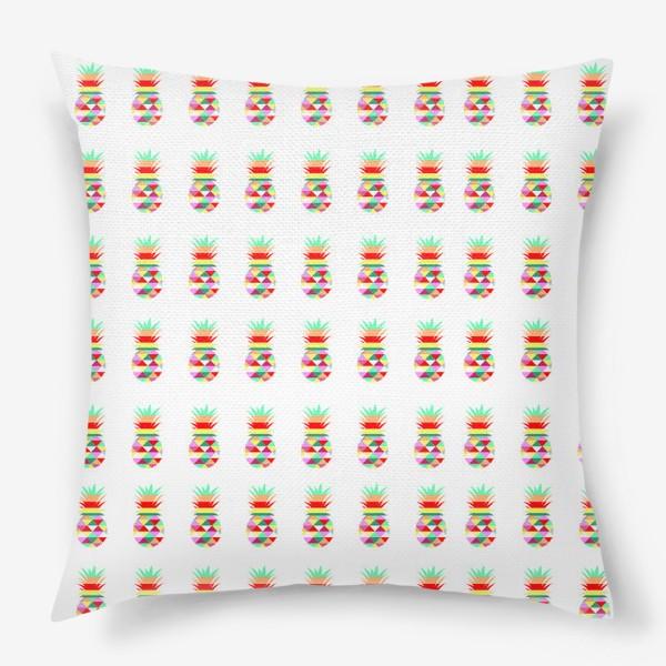 Подушка «ананасовый паттерн»