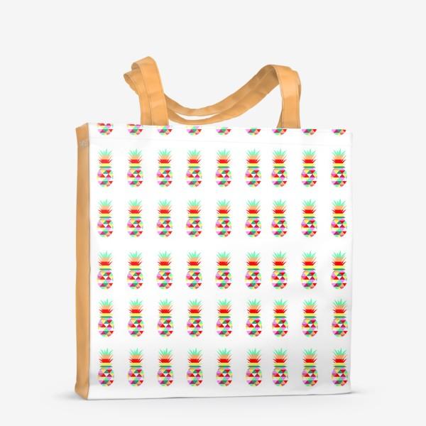 Сумка-шоппер «ананасовый паттерн»