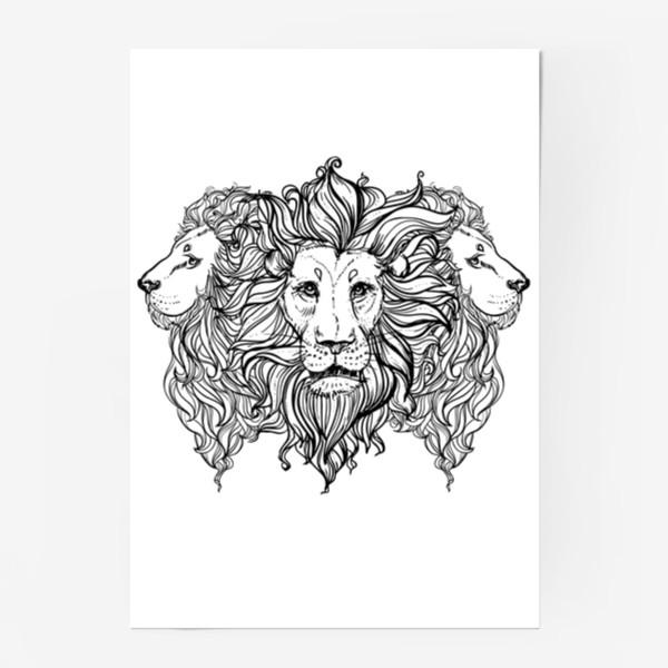 Постер «Лев. Три льва»