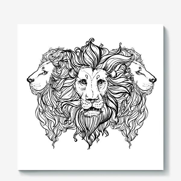 Холст «Лев. Три льва»