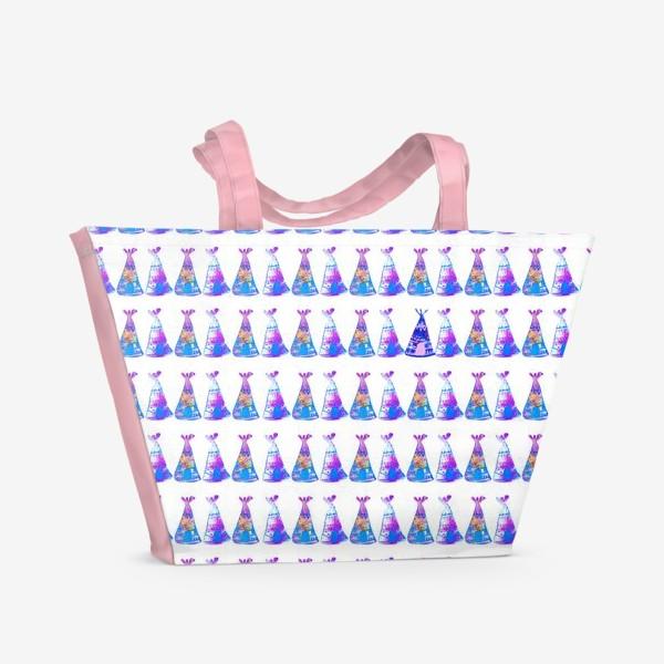 Пляжная сумка «Нежные типи»