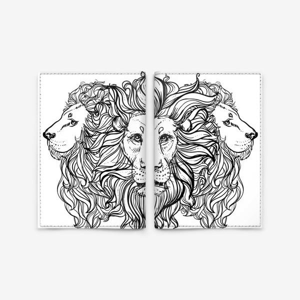 Обложка для паспорта «Лев. Три льва»