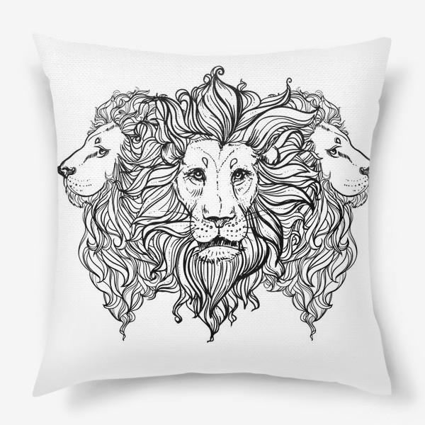 Подушка «Лев. Три льва»