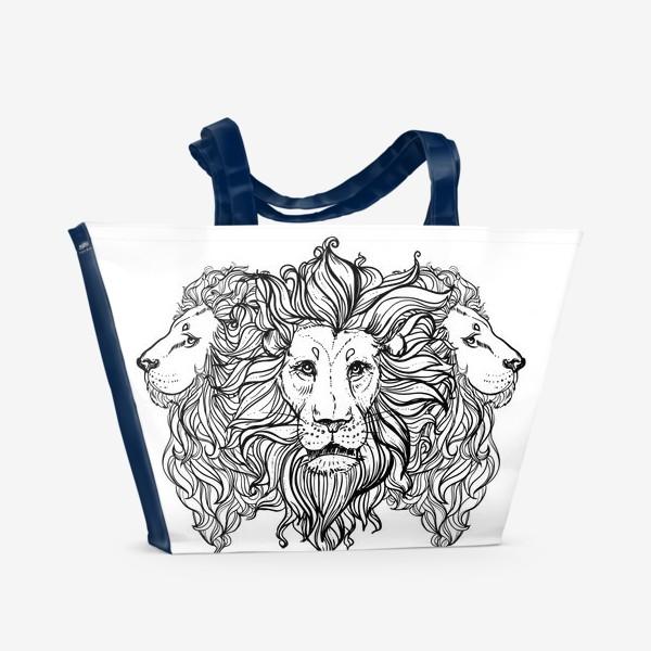 Пляжная сумка «Лев. Три льва»