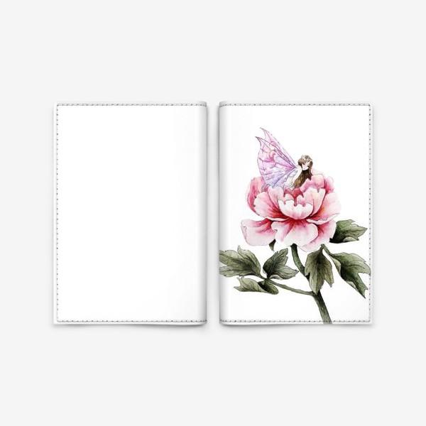 Обложка для паспорта «Пионовая фея»