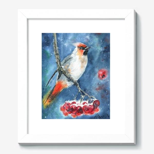 Картина «Птица и рябина»