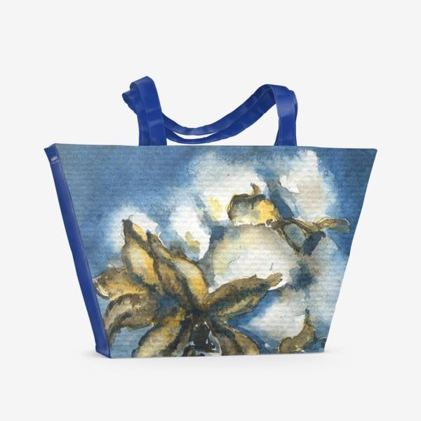 Пляжная сумка «Натюрморт с хлопком»