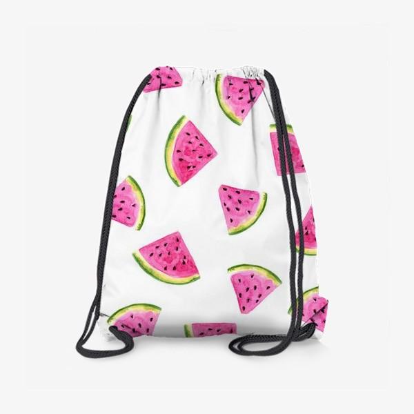 Рюкзак «Сочные акварельные арбузные дольки.»