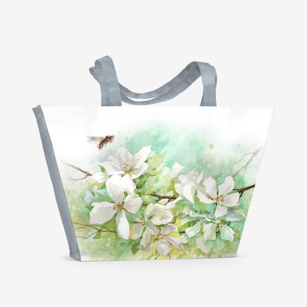 Пляжная сумка «Цветущая ветка»