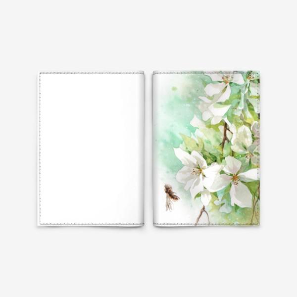 Обложка для паспорта «Цветущая ветка»