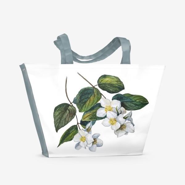 Пляжная сумка «Веточки жасмина»