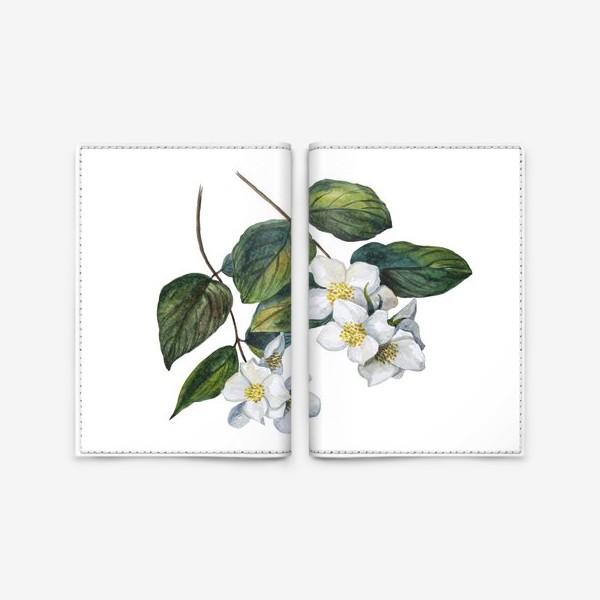 Обложка для паспорта «Веточки жасмина»