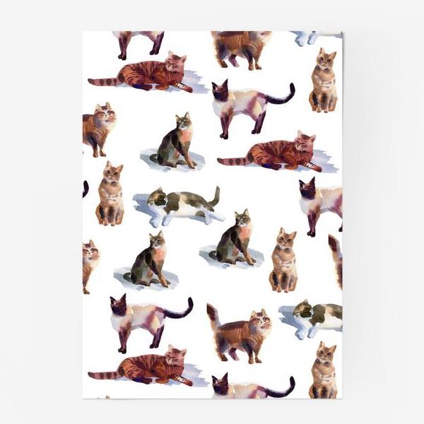 Постер «Акварельные кошки (белые)»