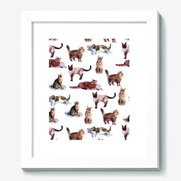 Картина «Акварельные кошки (белые)»
