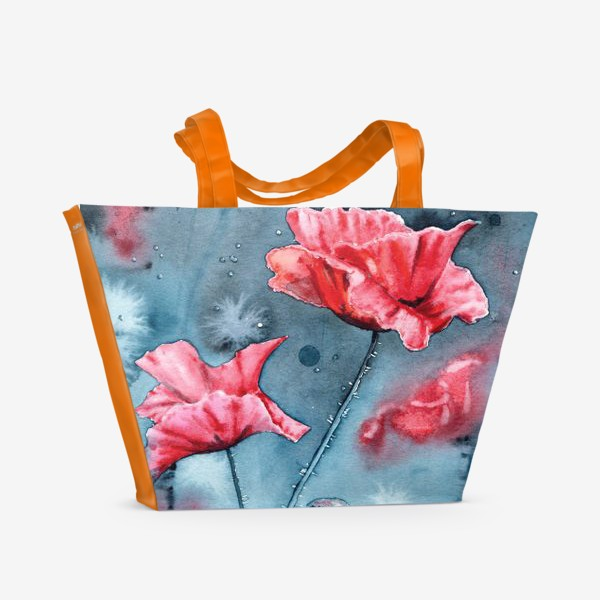 Пляжная сумка «Маки. 3»