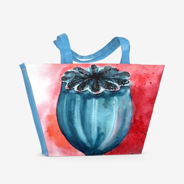 Пляжная сумка «Коробочка мака»