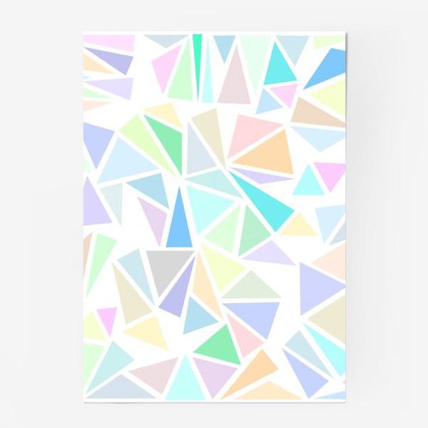 Постер «Пастельные треугольники»