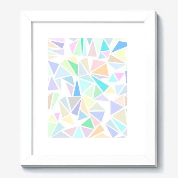 Картина «Пастельные треугольники»