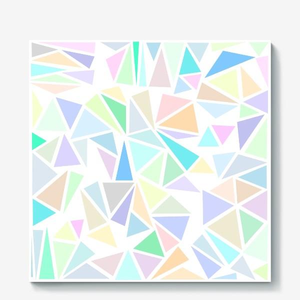 Холст «Пастельные треугольники»